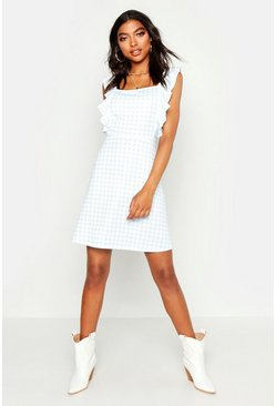 Womens Sky Tall Gingham Sun Dress