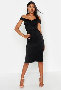 Womens Black Tall Lace Sweetheart Neckline Mini dress