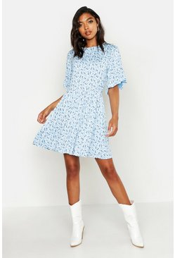 Dam Blue Tall Ditsy Floral Smock Dress