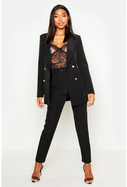 Womens Black Tall Tailored Trousers