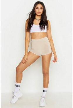 Womens Nude Tall Basic Slinky Runner Shorts