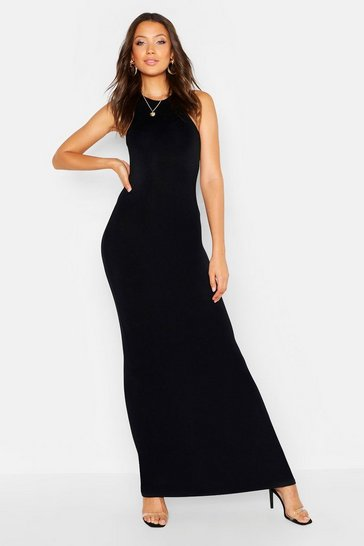 Womens Tall Basic Racer Maxi Dress