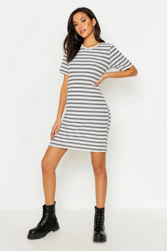 Tall Stripe Rib T-Shirt Dress