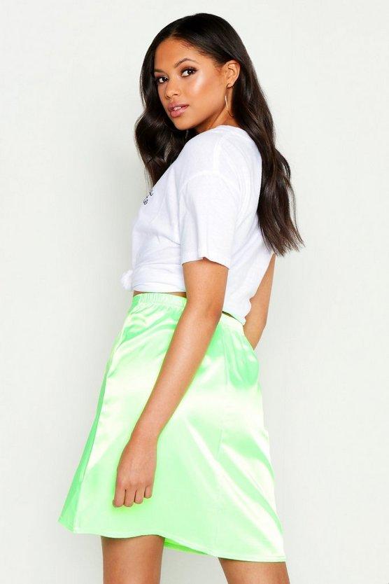Tall Satin Mini Skirt