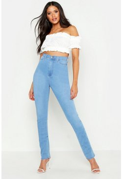 Light blue Tall High Waisted Power Stretch Skinny Jeans