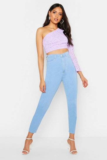 Womens Light blue Tall High Waisted Power Stretch Skinny Jeans