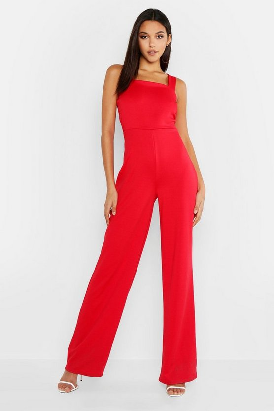 Tall Square Neck Tailored Jumpsuit by Boohoo