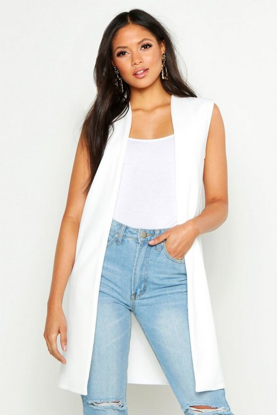 Tall Sleeveless Duster Jacket by Boohoo