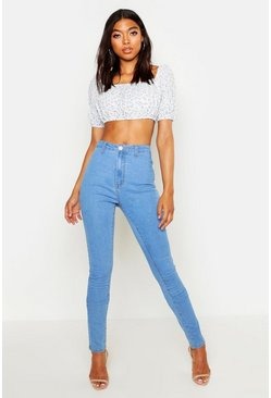 Womens Light blue Tall Tube Jean