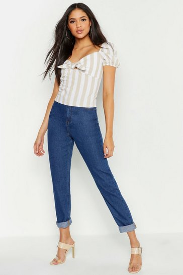 Womens Mid blue Tall Boyfriend Jean