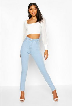 Bleach wash Tall High Waist Skinny Jean