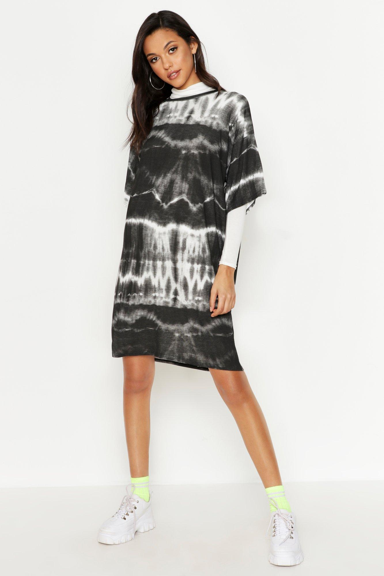 Tall Oversized Tie Dye T-Shirt Dress