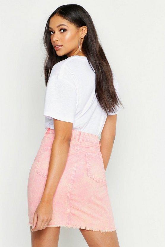 Tall Acid Wash Denim Skirt