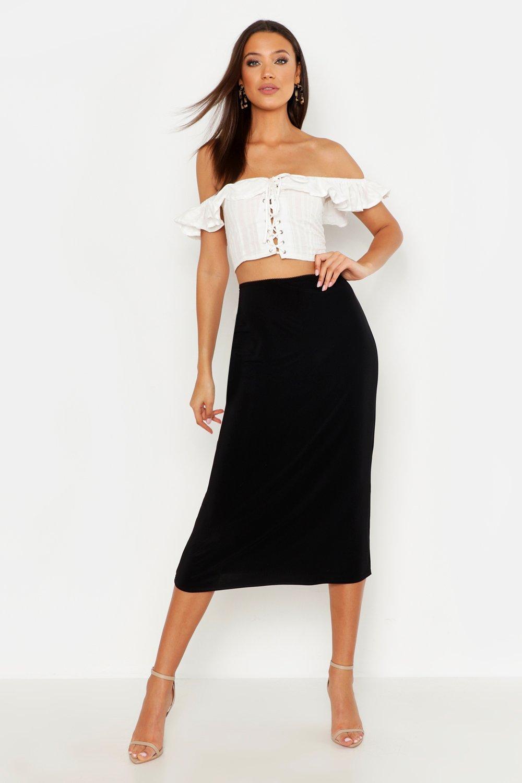 Tall Slinky Midi Skirt