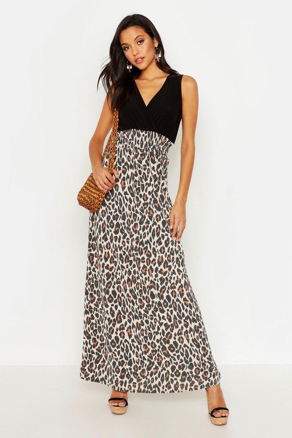 30087753500 Tall Leopard Print Maxi Dress | Boohoo