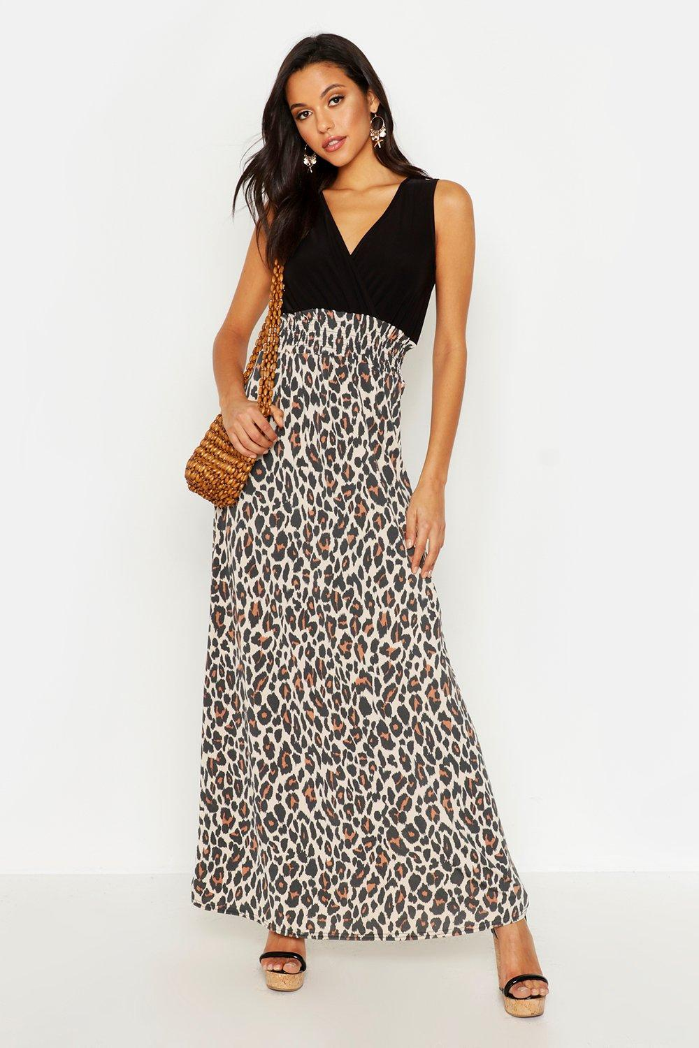 0e11582533a Womens Tall Leopard Print Maxi Dress. Hover to zoom