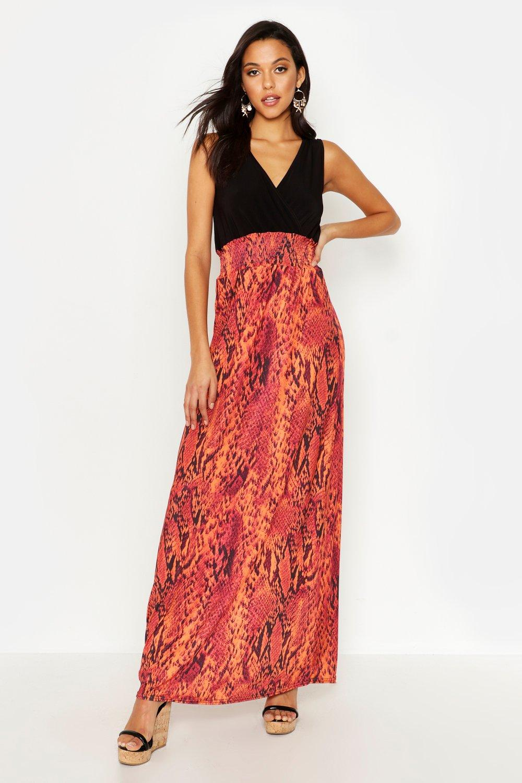 Tall Snake Print Maxi Dress