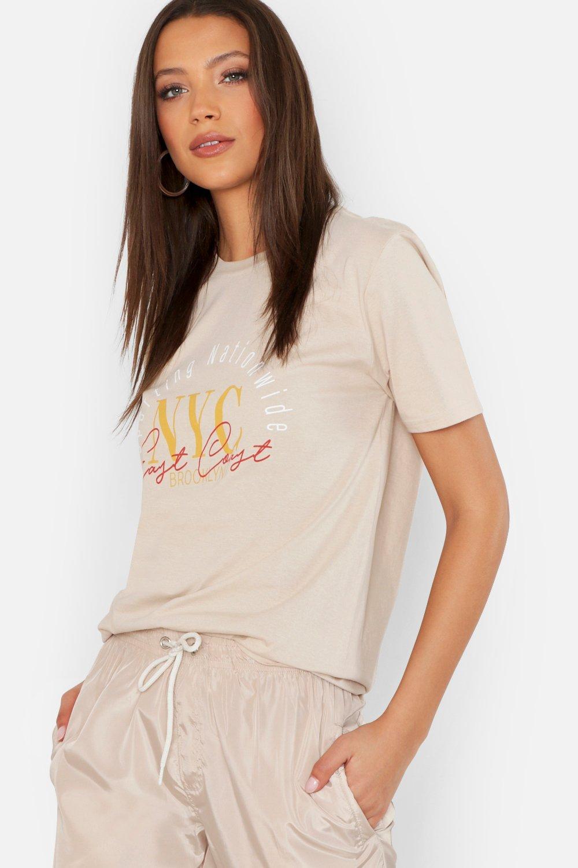 Tall NYC Slogan T-Shirt