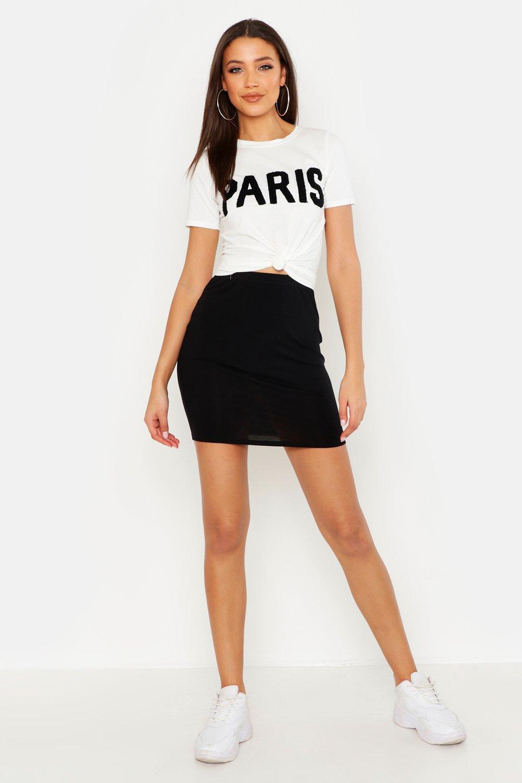 Tall Jersey Basic Mini Skirt