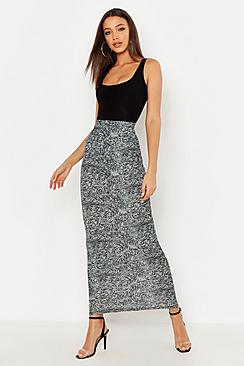 Tall Animal Print Maxi Skirt