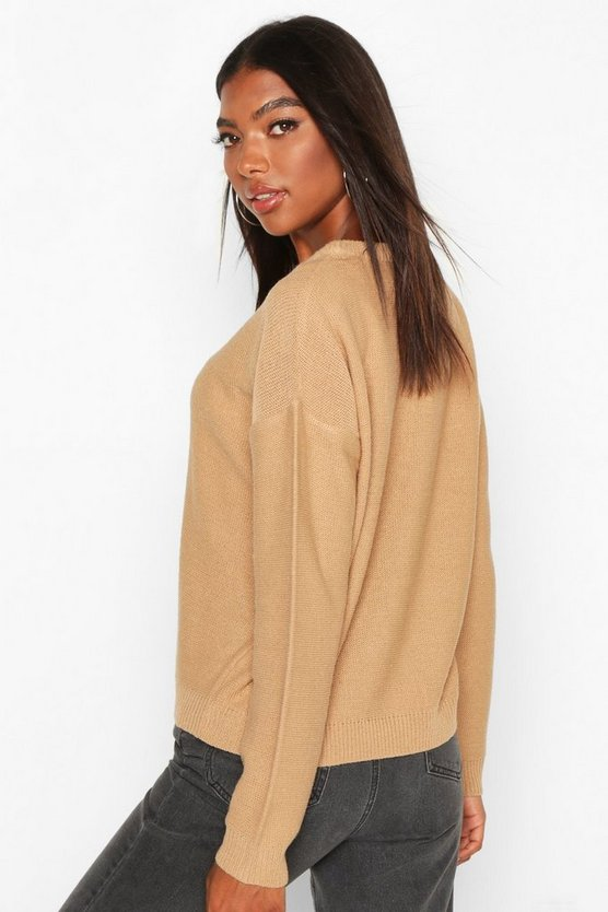 Tall Boxy Scoop Neck Jumper