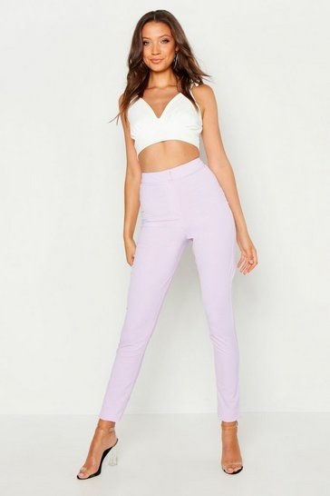Womens Lilac Tall Woven Trousers