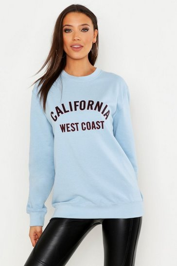 Sky Tall California West Coast Slogan Sweat