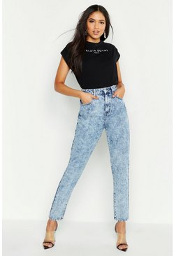Light blue Tall Acid Wash Straight Leg Jeans