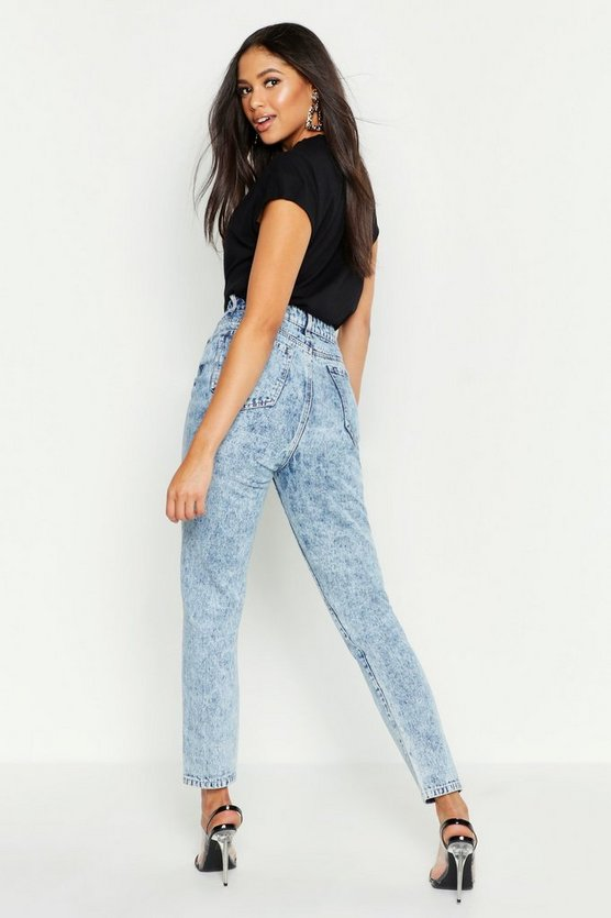 Tall Acid Wash Straight Leg Jeans