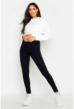 High-Waisted Leggings, Schwarz, Damen