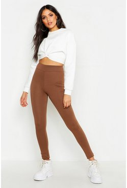 Womens Chocolate Tall High Waisted Legging