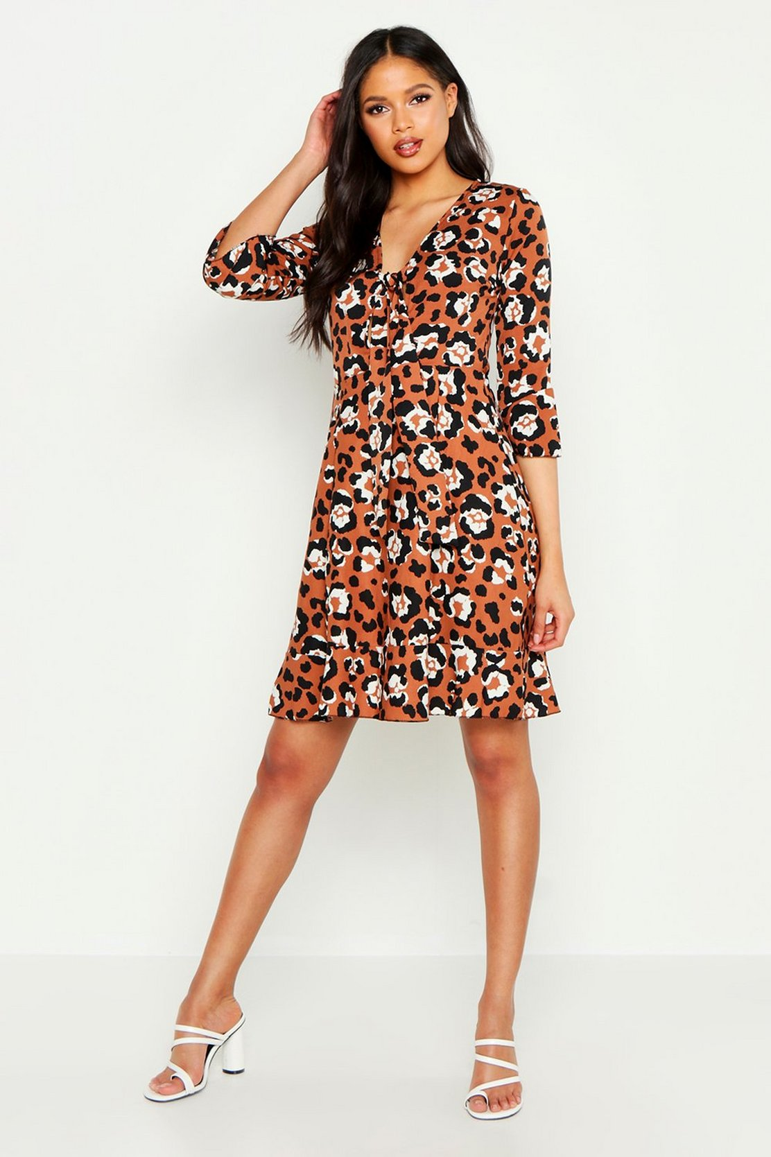 Tall Front Ruffle Shift Dress by Boohoo