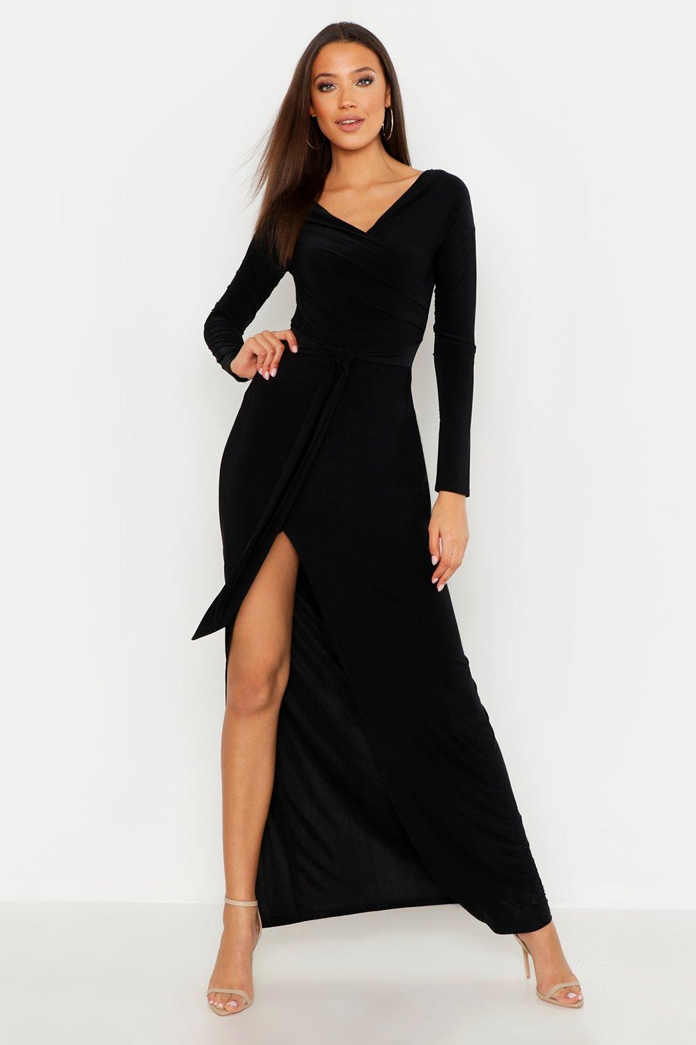 Tall Off The Shoulder Slinky Maxi Dress