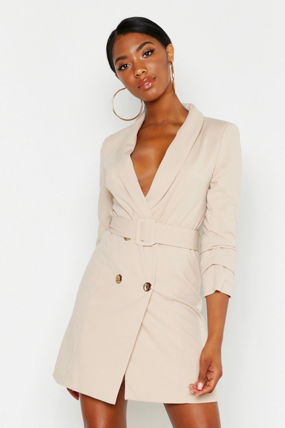 Tall Belted Blazer Dress by Boohoo
