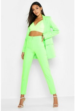 Neon-green Tall Neon Tailored Trouser