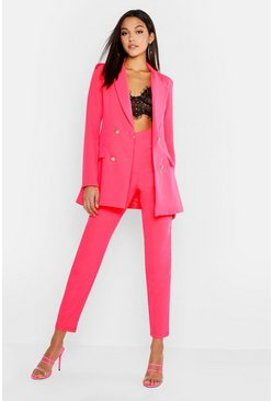 Tall Neon Tailored Trouser, Neon-pink, Donna