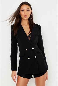 Womens Black Tall Tailored Blazer