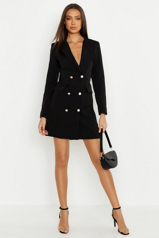Womens Black Tall Blazer Dress