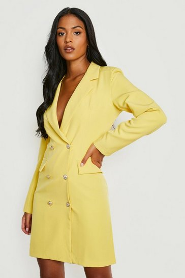 Yellow Tall Blazer Dress