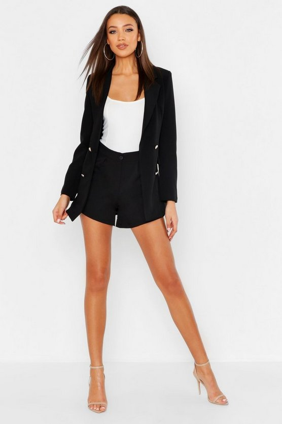 Womens Black Tall Tailored Short