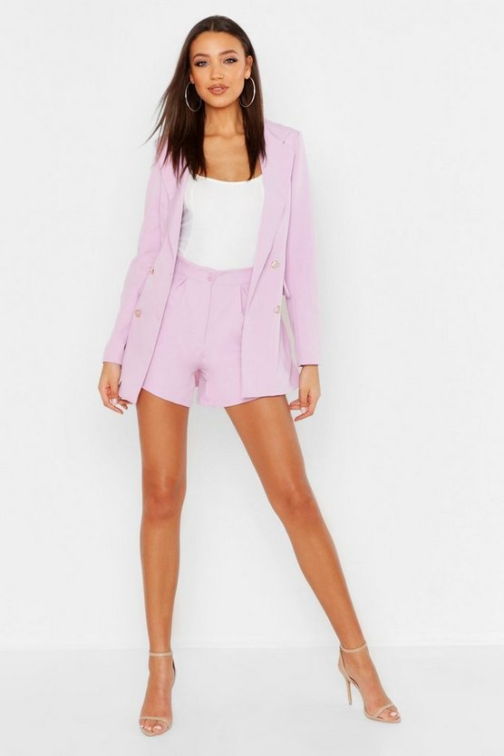 Womens Lilac Tall Tailored Short