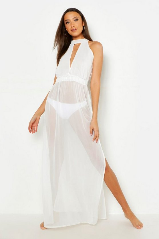 Womens Tall Side Split Maxi Beach Dress