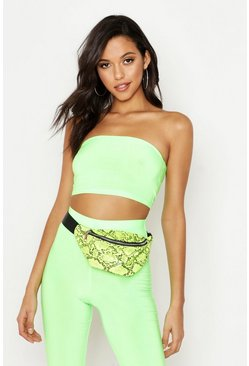 Womens Neon-lime Tall Neon Bandeau