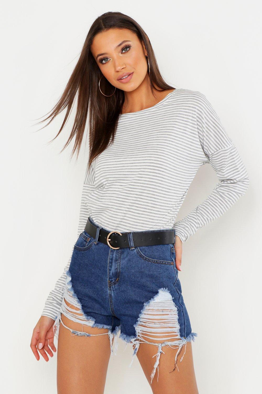 Tall Stripe Cotton Long Sleeve T-Shirt