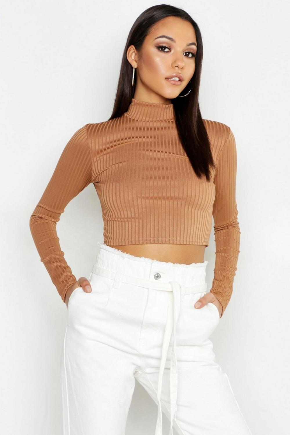 a12b7b5f20d6f ... High Neck Crop Top. Hover to zoom. Close video