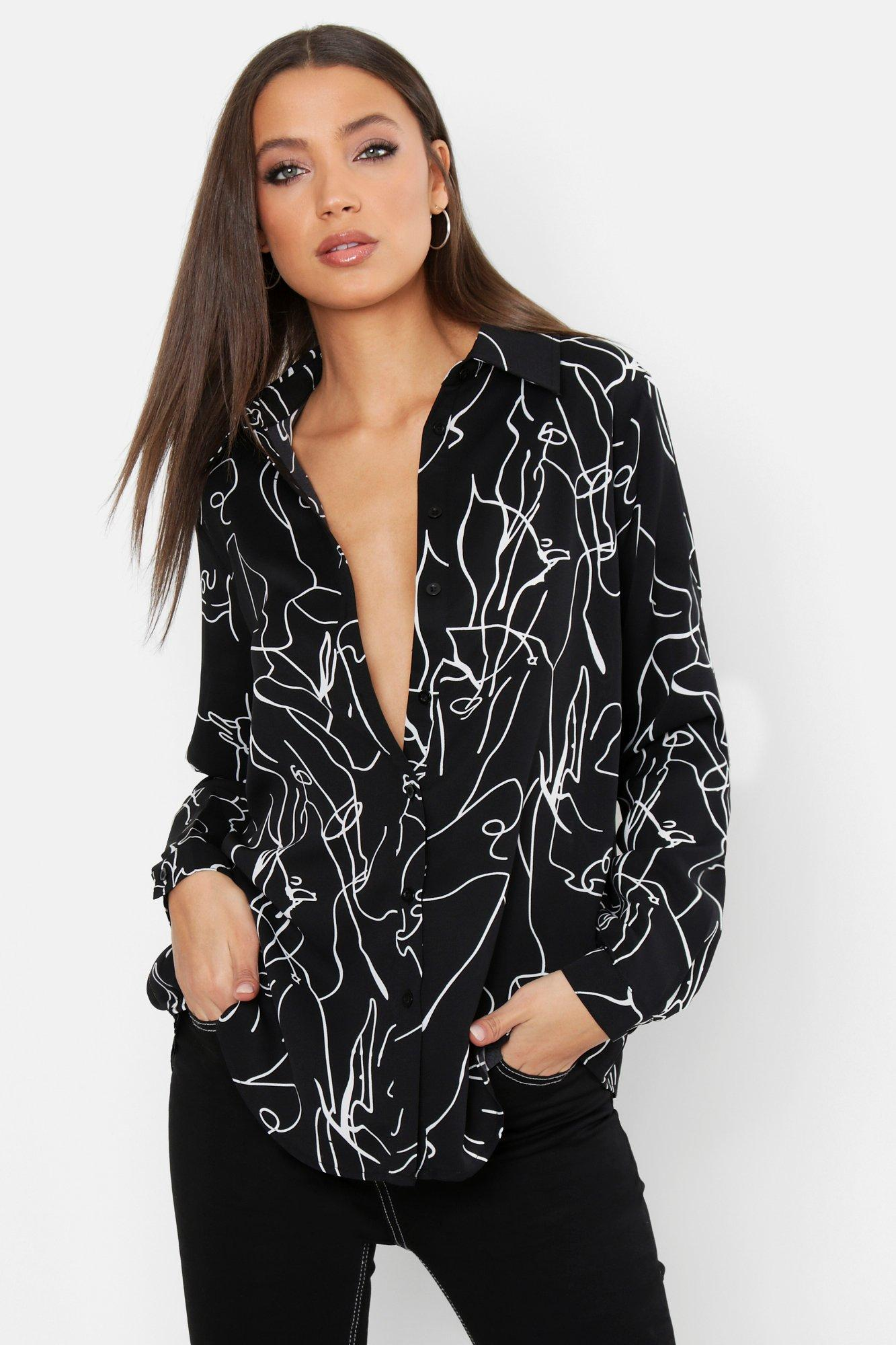 Tall Sketch Print Shirt