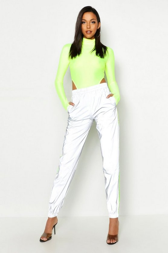 Tall Neon Trim Reflective Joggers