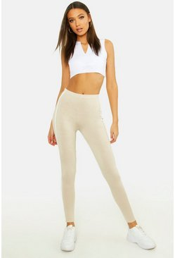 Tall Double Side Stripe Leggings, Stone, MUJER