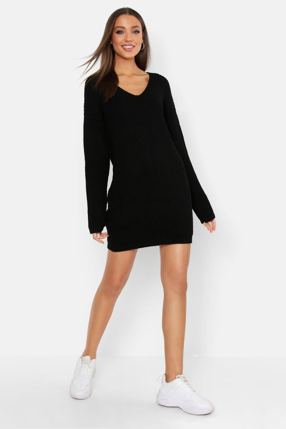 Tall V Neck Jumper Dress