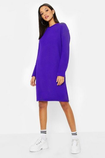 Womens Tall Roll Hem Jumper Dress